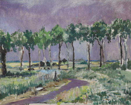 Trees against a Mauve Sky
