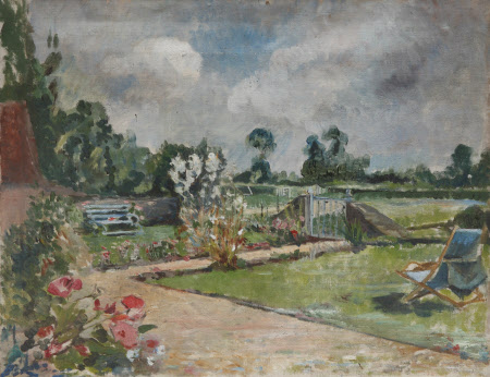 Garden Scene with Deckchair