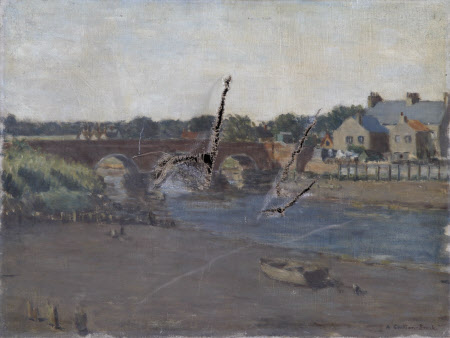 Water Scene with Bridge