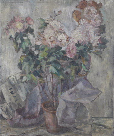A Vase with Pink Flowers