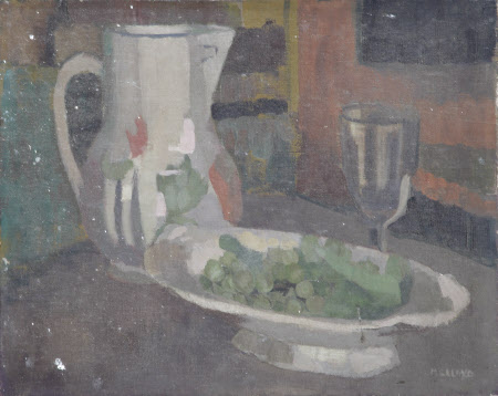 Still Life of a Jug, Glass and Platter