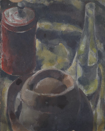 Bust of a Woman (recto); Still Life of a Hat with a Wine Bottle (verso)
