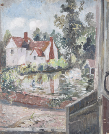 A Cottage by a Mill-pond