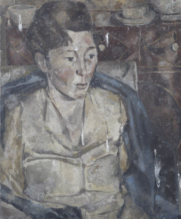 Study of a Woman in a Blue Chair
