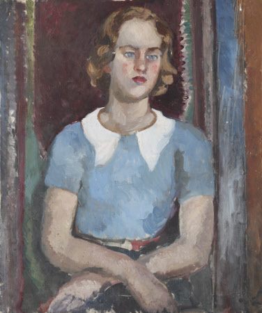 Study of a Young Woman in a Blue Shirt