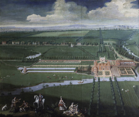 A Bird's-eye View of Charlecote Park, Warwickshire from the West