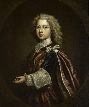 William Augustus, Duke of Cumberland (1721-1765), as a Boy, wearing the Robes of the Order of the ...
