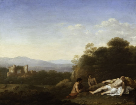Landscape with a Satyr and Antiope (?)