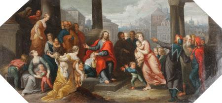 The Chirk Cabinet: Sinite parvulos venire ad Me ('Suffer the Little Children to Come unto Me')