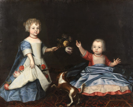 Mary Myddelton (1688-1747) and Sir William Myddelton 4th Bt (1694-1718) as Children