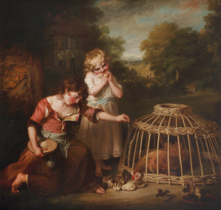 'Rural Employment': Anne (1781 - 1857) and Maria (1782 - 1861), the Two Daughters of the Artist, ...