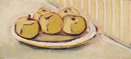 Still Life of Apples on a Plate