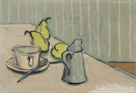Still Life of Pears with Cup and Jug
