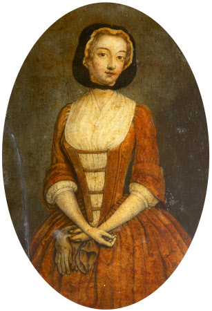 A Young Girl in a Red Dress