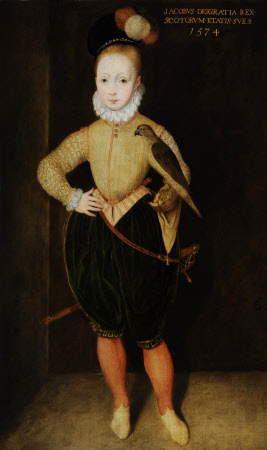 King James I (James VI of Scotland) (1566–1625) as a Boy, aged 8 (after Arnold van Bronckhorst)