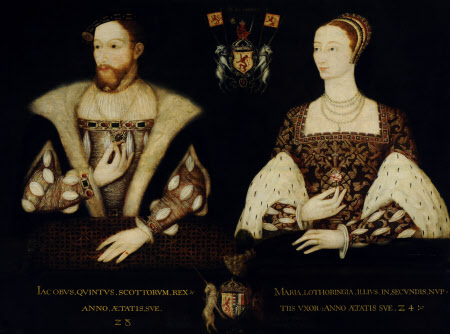 King James V, King of Scotland (1512– 1542), aged 28 and Queen Mary (of Guise), Queen of Scotland ...