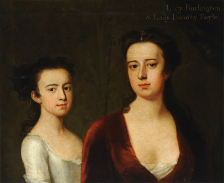 Lady Dorothy Savile, Countess of Burlington (1699-1758) with her Daughter Lady Dorothy Boyle, later ...