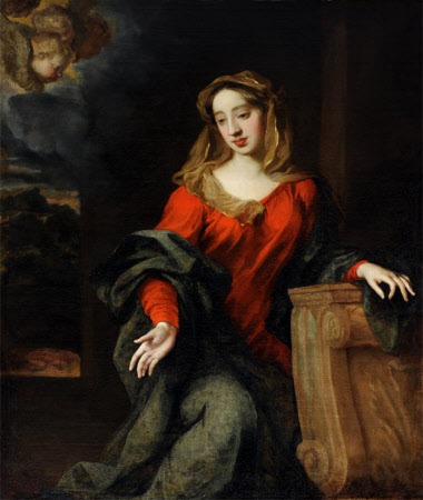 Possibly Lady Mary Butler, Duchess of Devonshire (1646-1710), as the Virgin Annunciate