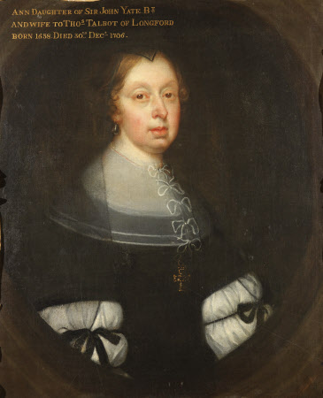 Anne Yate, Mrs Thomas Talbot (1638-1706)