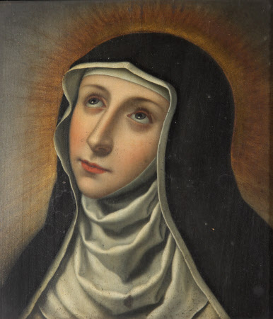 Head of a Female Saint