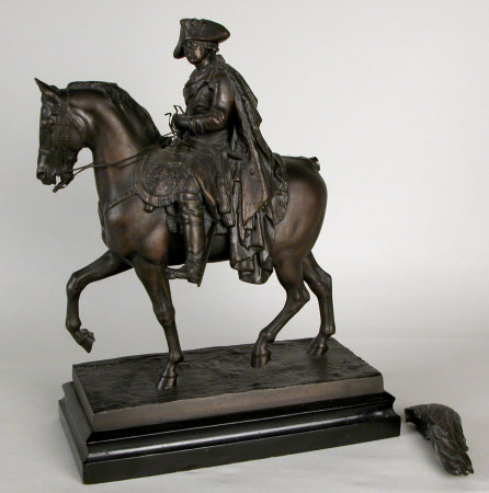 King William I, King of Prussia and Emperor of Germany (1797-1888) on horseback