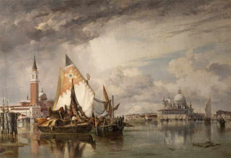 San Giorgio Maggiore and the Salute, Venice, with Fishing Craft of Chioggia and the Lagune