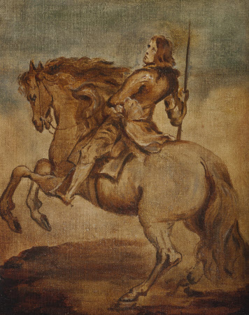 Giovanni Paolo Balbi (1607 - 1683) on a Rearing Horse (sketch)