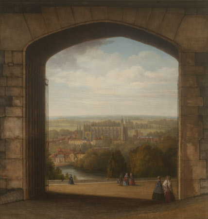 A View of Eton seen through the Gateway of the North Terrace of Windsor Castle