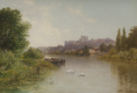 View of Windsor Castle form across the Thames