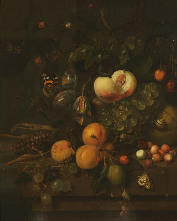 Fruit on a Stone Ledge