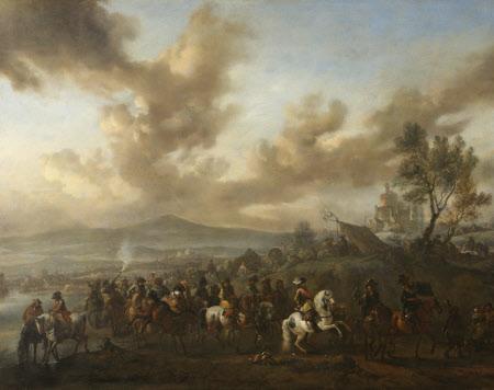 Le défilé du duc de Vendôme