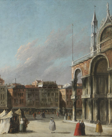 A Corner of St Mark's Square with the Basilica, Venice
