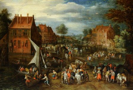 Cattle Market in a Village