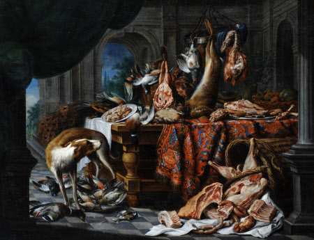 Still Life with Dead Poultry and Fruit
