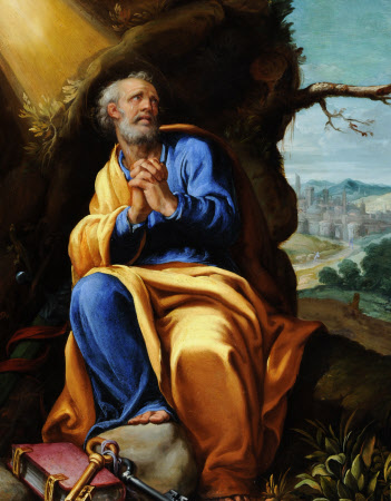The Penitent Saint Peter in a Landscape