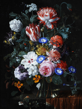 Flowerpiece with Tulips, Roses, Convolvuli and other Flowers