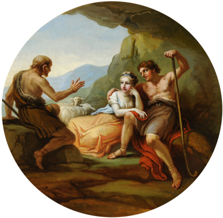 Philetus explaining Love to Daphnis and Chloe