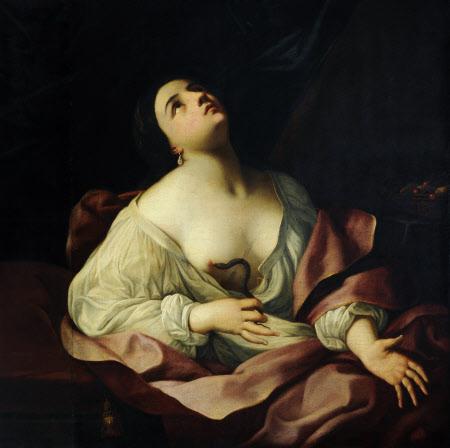 Cleopatra bitten by an Asp
