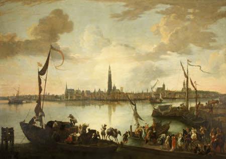 Antwerp from across the Scheldt