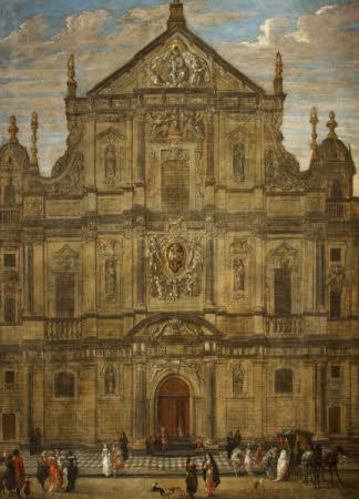 The Façade of the Jesuit Church, Antwerp
