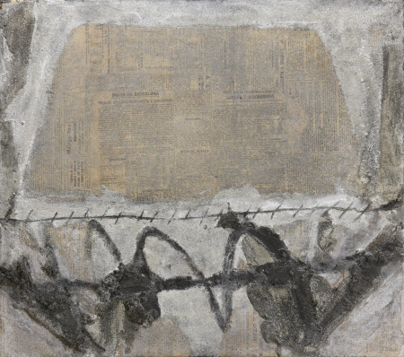 Pintura sobre pepel e periodico (Painting with Newspaper), 1964