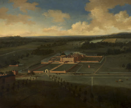 Dunham Massey: Bird's-eye View from the South, 1697