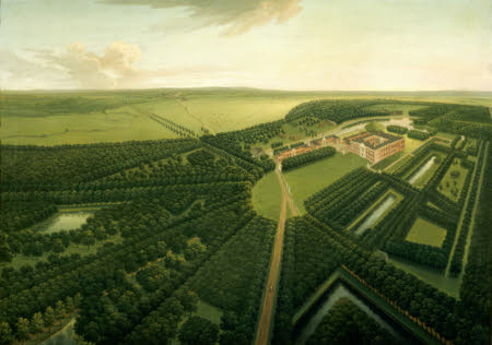 A Bird's-eye View of Dunham Massey from the South-east