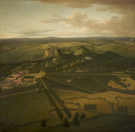 A Bird's-eye View of Dunham Massey from the South-west