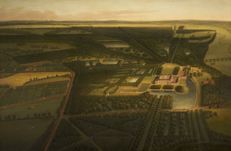 A Bird's-eye View of Dunham Massey from the North