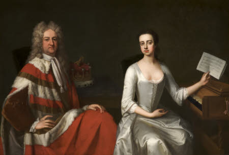 George Booth, 2nd Earl of Warrington (1675-1758) and his Daughter Lady Mary Booth, later Countess ...