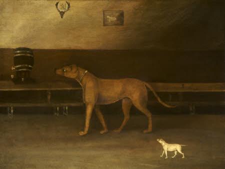 A Mastiff and Small Dog