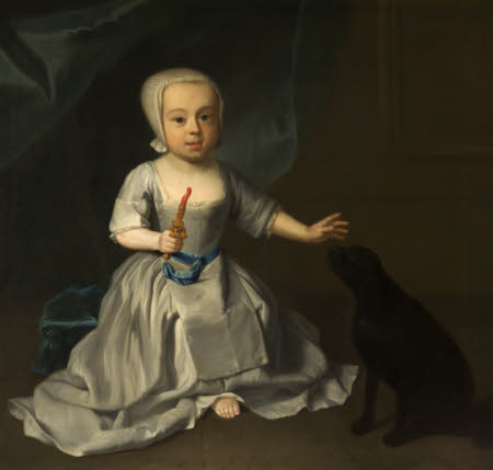 An Unknown Child with a Puppy, possibly George Harry Grey, Lord Grey of Groby, later 5th Earl of ...