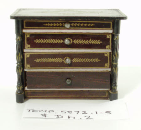 Doll's house chest of drawers