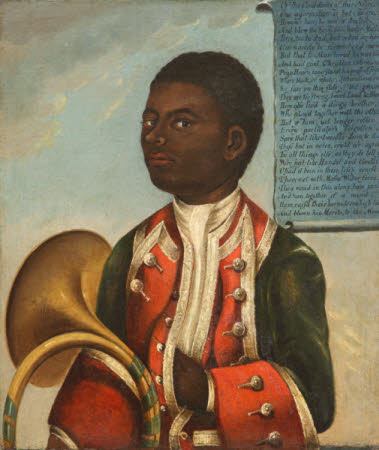 'John Meller's Black Coachboy' (painted over an early 18th century portrait of John Hanby, aged 25)